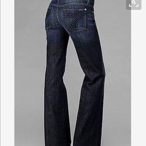 7 For All Mankind Dojo Dark Wash Jeans 28x31